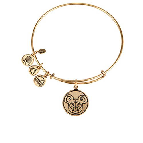 Disney - Mickey Mouse Filigree Bangle By Alex and Ani - Gold - New