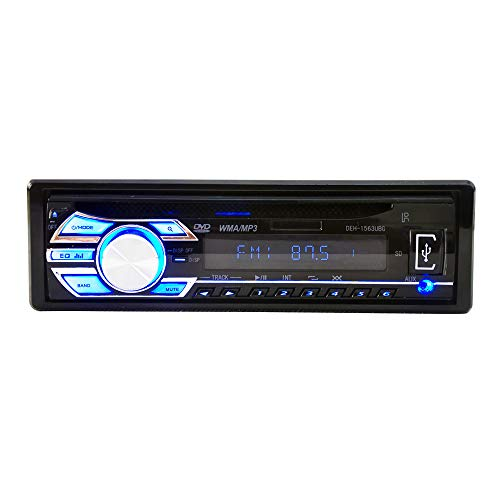(ZJYYD Universal Car CD Player, Car DVD Player, 1563 12V 1Din MP3 Reader with Large LCD Scree/One Button Mute/Power Off Memory)