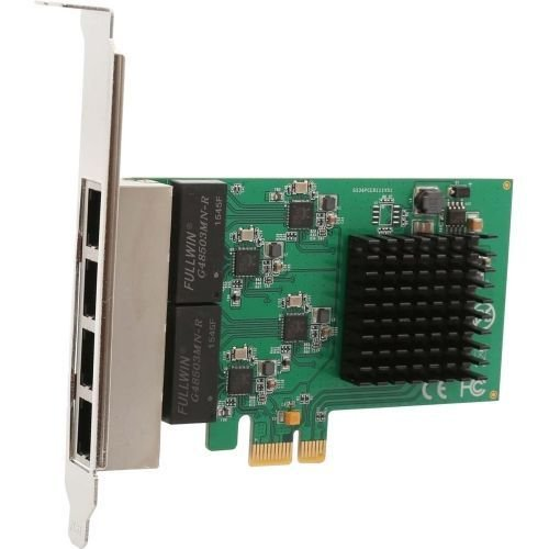 - Syba 4 Port (Quad) Gigabit Ethernet PCI Express 2.1 PCI-E x1 Network Adapter Card (NIC) 10/100/1000 Mbps Card with Realtek Chipset