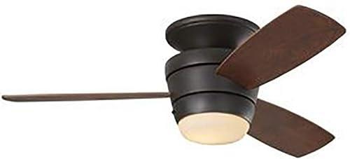 Harbor Breeze Mazon 44-Inch Bronze Flush Mount Indoor Ceiling Fan