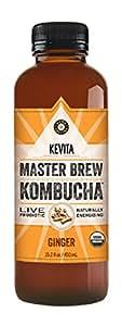 KEVITA Master Brew Kombucha Ginger, 15.2 Ounce (Pack of 12)