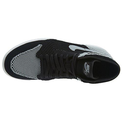003 Basket Nike Wolf Flyknit Hi Black Jordan Scarpe 1 Uomo Grey Retro Air Da White qw86xqfA