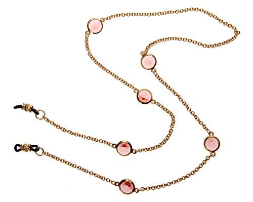 L. Erickson Charmer Eyeglass Chain - Rose Peach/Gold by L. Erickson