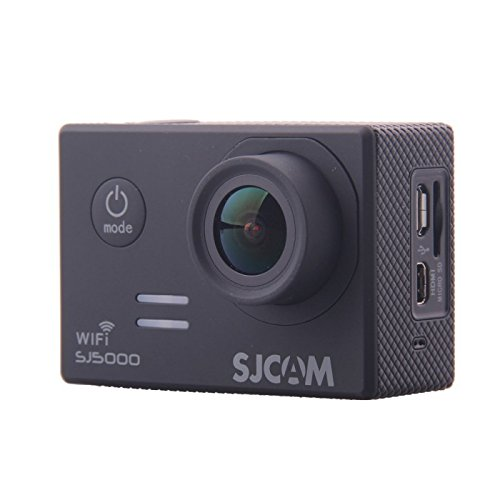 "SJCAM SJ5000 WIFI Sports Action Camera Novatek 96655 14MP 2.0"" LCD 1080P 170 Degree Wide Angle Sport Action Camera Waterproof Cam DV Camcorder Outdoor for Bicycle Motorcycle Diving Swimming (Black) Action Cameras SJCAM"