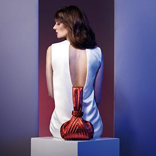 Gretchen - Cartera de mano con asa de Piel para mujer Multicolor - Fire Red Metalic