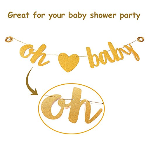 Baby Shower Party Decorations Kit Unisex, Girls and Boys | Oh Baby Banner Neutral Decor | 12 Pcs Balloon Set | Glitter Unisex Pregnancy Announcement Gender Reveal Party | 50 Pcs Premium Baby Shower Emoji Game Cards by Newborn Party (Image #7)