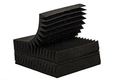 "6 Pack 12"" X 12"" X 2"" acoustic sound foam studio panels 15 sharp wedges - Remove Noise & Enhance Sound Quality by-beefoam - Image 2"