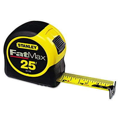 fat-max-tape-rule-1-1-4-x-25ft-plastic-case-black-yellow-1-16-graduation-sold-as-1-each