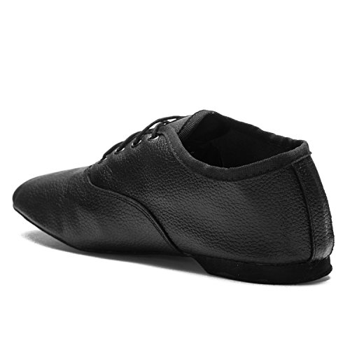Gymnastics Fitness Suede Shoes Upper Dance Sports Ladies black 1261 Full Dance Black Leather Jazz men Sole wIv47