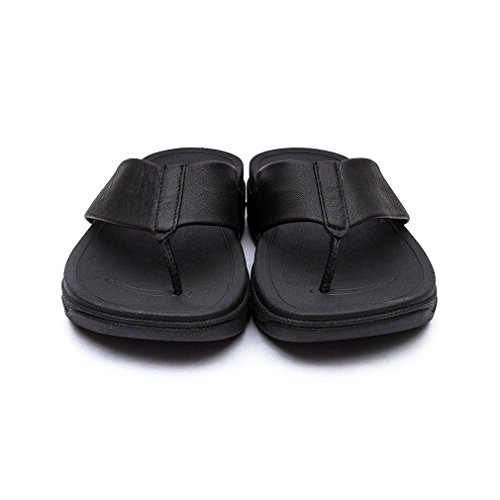 FitFlop Womens Surfa Leather Sandals Black