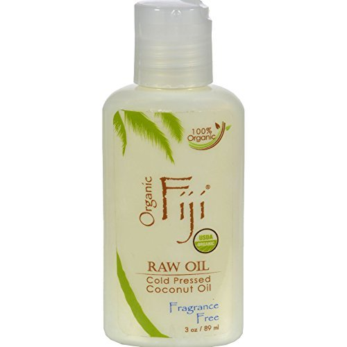 2Pack! Organic Fiji Virgin Coconut Oil Fragrance Free - 3 oz