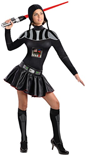 [Secret Wishes Star Wars Female Darth Vader Costume, Black, Large] (Darth Vader Chest Plate Costume)
