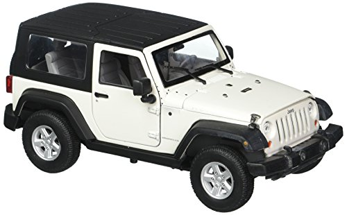 2007 Off Road Models - Welly Collection 1:24 2007 Jeep Wrangler Rubicon with Top Diecast Model Car