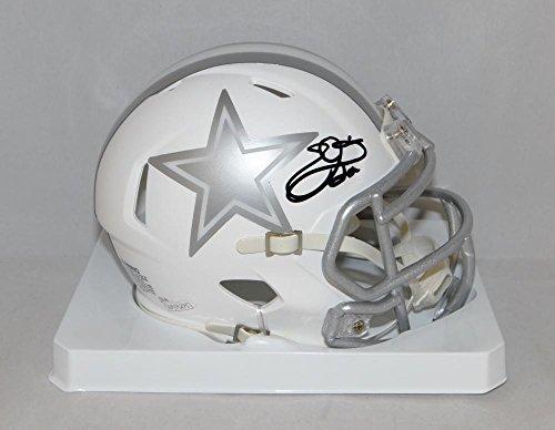 Emmitt Smith Autographed Dallas Cowboys ICE Speed Mini Helmet- JSA W Auth