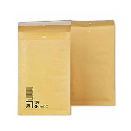 Caja 200 Sobres Acolchados B2. Medidas exteriores 140 x 225 mm. Solapa de cierre auto-adhesiva