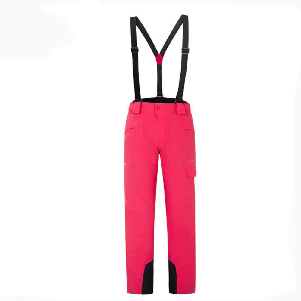 rose S AQWWHY Pantalons de Ski pour Femmes, imperméables, Taille Ajustable, Tenues de Ski Amovibles, Pantalons de Montagne pour Hommes en Plein air