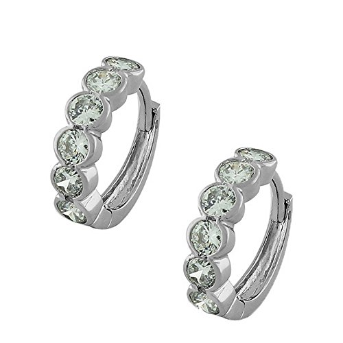 925 Sterling Silver White CZ H
