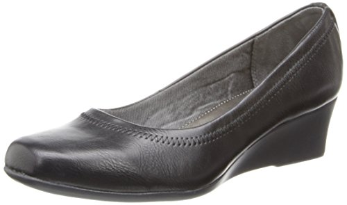 LifeStride Women's Groovy Wedge Pump, Black, 7.5 W - Women Pumps Black Wedge
