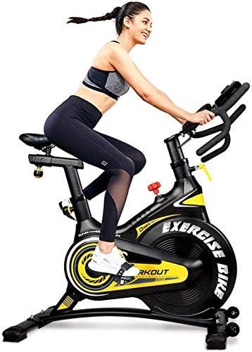 bequemes Kissen Pad // Telefonhalter Leise f/ür das Cardio-Training im Fitnessstudio zu Hause Heimtrainer Indoor Cycling Bike Belt Drive mit APP-Anschluss einstellbarer Widerstand LCD-Monitor