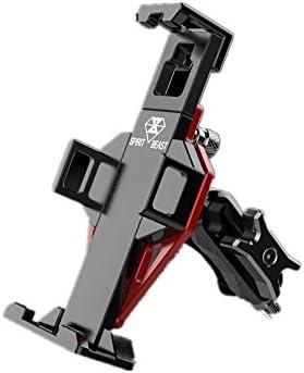 自転車 スマホ ホルダー 自転車オートバイスクーターしっかりと安定のためのアルミ合金の携帯電話サポートモバイルナビゲーションのサポート 脱着簡単 強力な保護