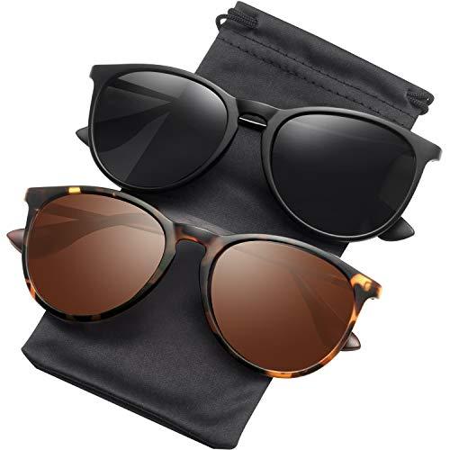 Sunglasses for Women Men Polarized uv Protection Wearpro Fashion Vintage Round Classic Retro Aviator Mirrored Sun glasses (Mens Vintage Glasses)