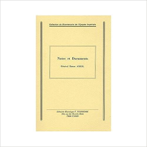 Notes et Documents pdf, epub ebook