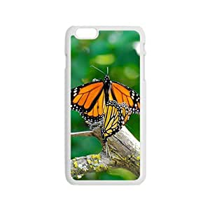 Tree Buterflies White Phone Case for Iphone6