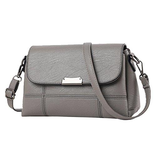Sac Casual Bandoulière Pu Lady Pu Multicolore Main Grey à Cuir Bag Femmes Tote Satchel Lattice Mode Zipper Mini Crossbody Sac à wCqA0xEXz