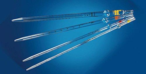 DUTSCHER 001713B Glass pipette 25 ml graduation 0.1 ml zero at the bottom