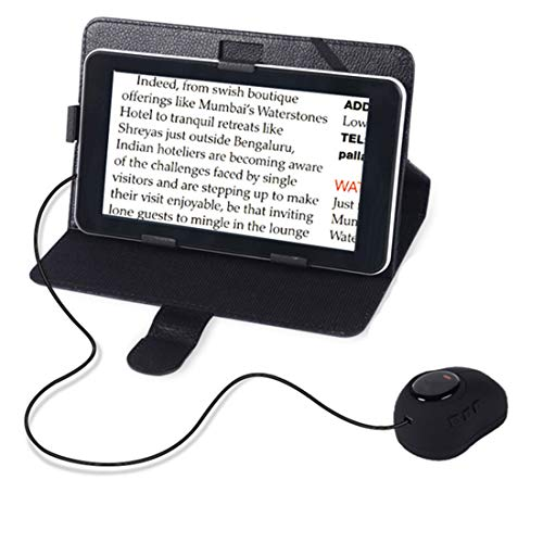 (7-Inch Video Magnifier LCD Portable Electronic Visual Aid 3x-60x Zoom, Handheld Electronic Reading Aid for Low Vision Impaired, 12 Color Modes, AV/TV Output, Image Freeze)