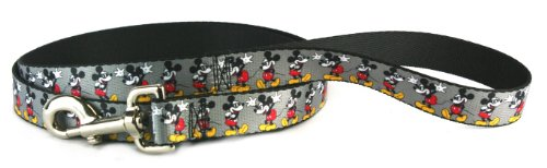 BUCKLE DOWN MICKEY MOUSE DOG LEASH 48 X 1 INCHES WDY061-L1