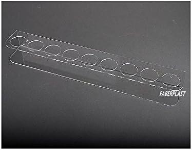 Faberplast Especiero con 6 Botes, Metacrilato, 36x8x6.8 cm: Amazon.es: Hogar