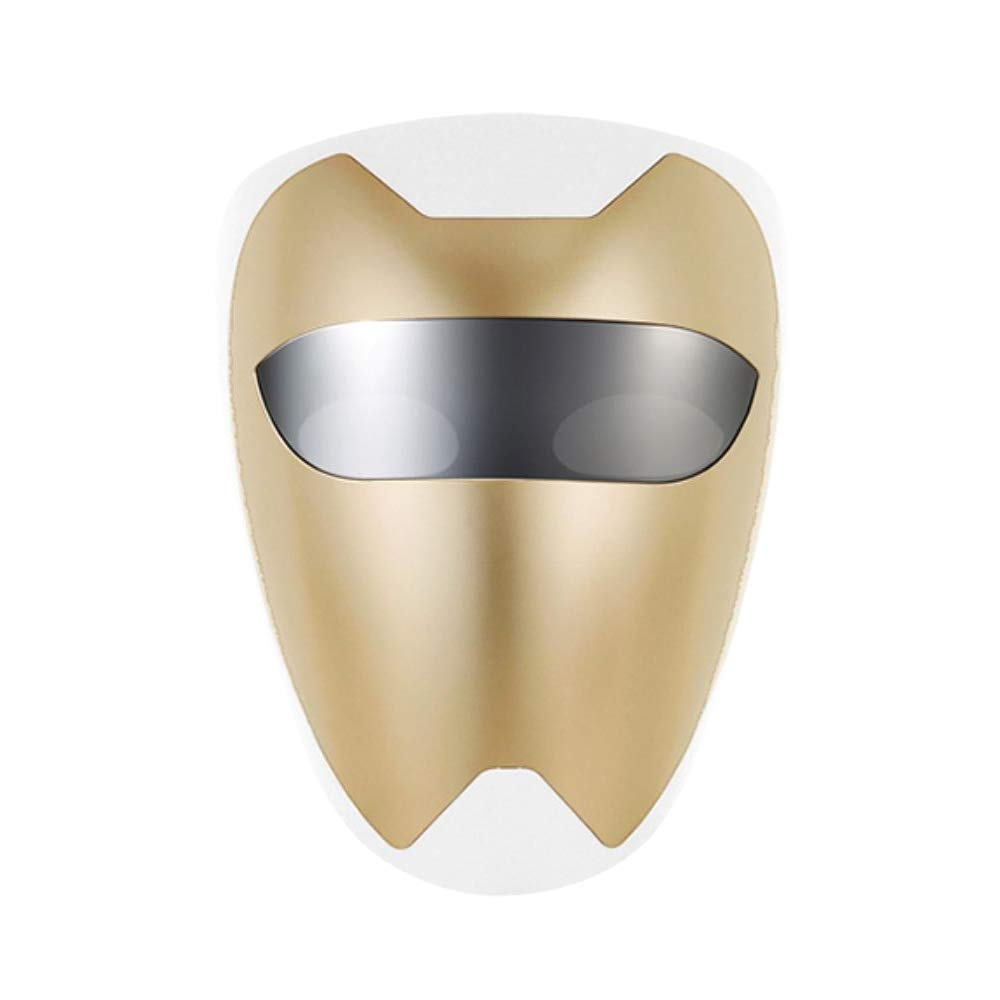 PURISKIN LED Face Mask (01 Gold) - Skincare Facial Home Therapy Treatment Device for Improving Wrinkles Rejuvenation Anti-Aging Soothing Tightening Whitening