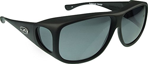 Jonathan Paul Fitovers Eyewear Aviator Sunglasses (Matte Black, PDX, - Sunglasses Protection Vs Uv Polarized