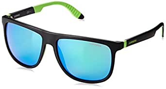9608a51ade74 Amazon.com: Carrera CA5003SPS Square Sunglasses,Black & Matte Green ...