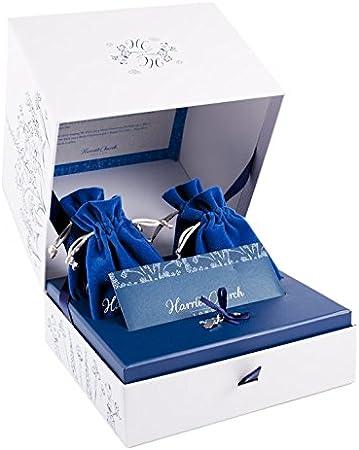 Personalizado dama de honor boda caja de regalo de recuerdo de celebración por Harriet Iglesia azul Royal Blue & Cream: Amazon.es: Bebé