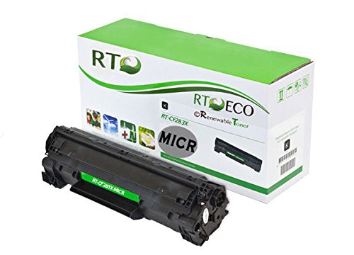 Renewable Toner 83X CF283X Compatible MICR Toner Cartridge for Check Printing MFP Printers: M125, M127, M201DW, M225