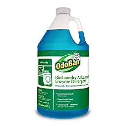 OdoBan 968262-G BioLaundry Advanced Enzyme Detergent, 1 Gallon Bottle