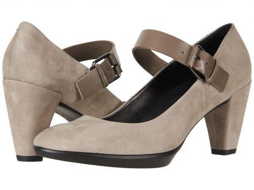 ECCO(エコー) レディース 女性用 シューズ 靴 ヒール アンクル Shape 55 Plateau Mary Jane Pump - Warm Grey/Stone Calf Nubuck/Cow Leather [並行輸入品]