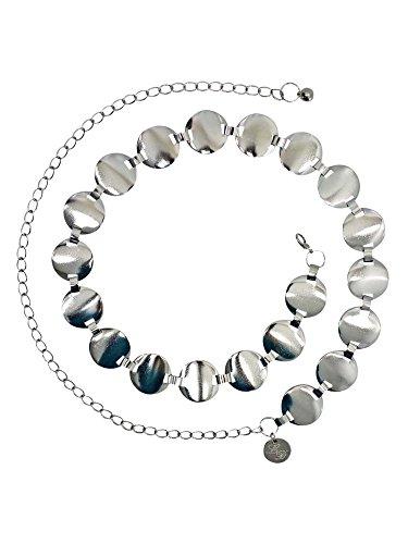Silver Smooth Round Disc Chain Link Belt