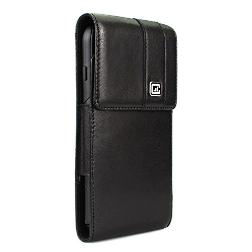 [NEW Gorilla Clip] CASE123 MPS Mk II TL Premium Genuine Lambskin Large Oversized Vertical Swivel Belt Clip Holster for Apple iPhone 6 / 6s / 7 Plus for use with Otterbox Commuter/Symmetry,Speck,Spigen