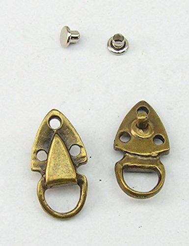 4 Zierniete Metall Applikatione Zierteil Trachten 05.13/292