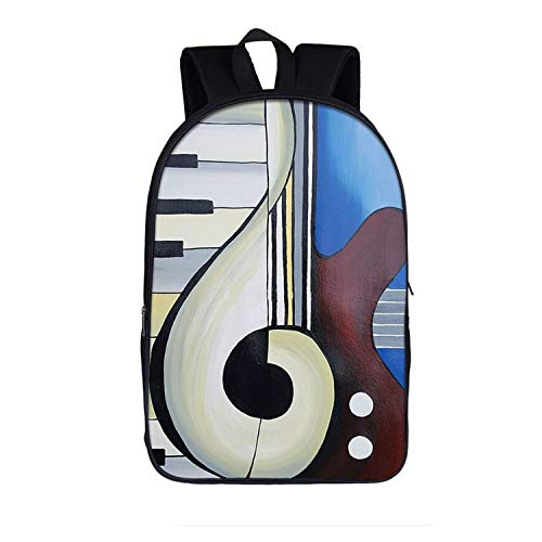 (Elegant Music Playing Piano Backpack Women Casual Teenager School Bags Students,16piano03 )