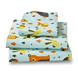 Amadora Woodland Creatures, 1500 Thread Count, Cotton & Soft Microfiber, Twin Kids Sheet Set