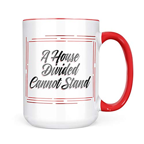- Neonblond Custom Coffee Mug Vintage Lettering A House Divided Cannot Stand 15oz Personalized Name