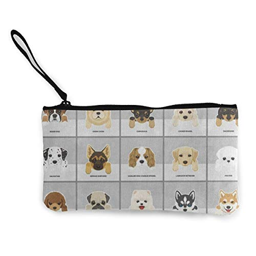 Canvas Coin Purse Dog Pug...