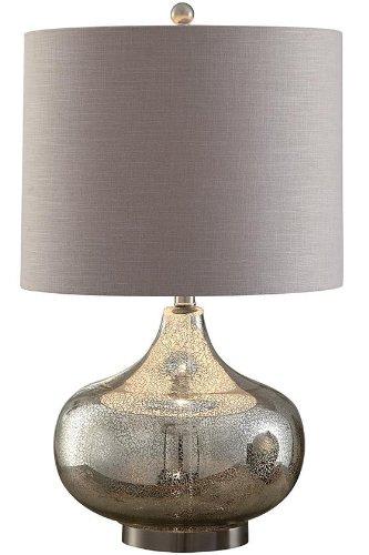 Soho Mercury Glass Table Lamp, 27Hx12.5DIAMETER, MERCURY GLASS