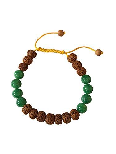 Tibetan Rudraksha Green Bracelet Meditation product image