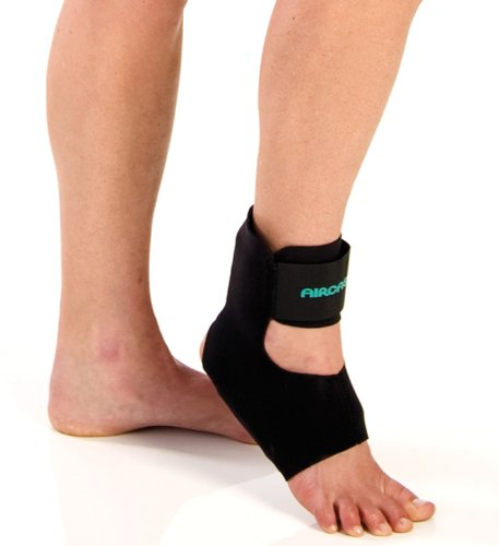 Achilles Tendonitis Brace (Aircast AirHeel Ankle Support Brace with Stabilizers, Large)