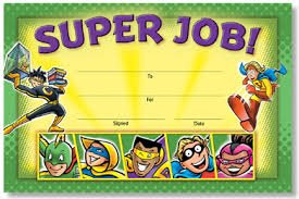 SUPER JOB! SUPERHEROES ANYTIME AWARDS